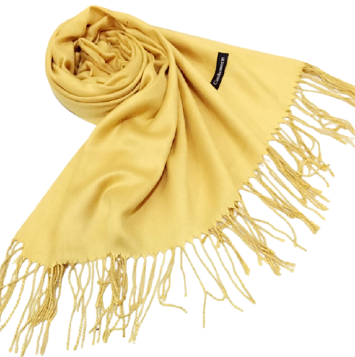 Autumn Winter Tassels Solid Color Shawl Scarf Muffler