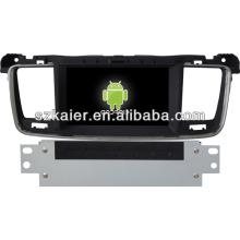 Système de navigation Android Gps de voiture pour Peugeot 508 avec GPS / Bluetooth / TV / 3G / WIFI