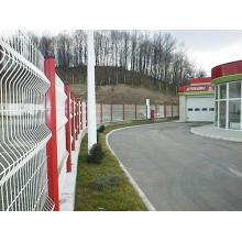 Clôture et poste revêtu de PVC