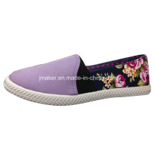2016 Floral Canvas Casual Slip on Shoes J2613