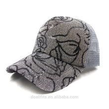 Flash cap for custom logo with mesh back baseball cap