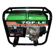 Hot-sale Ménage portable silencieux silencieux monocylindre 4 temps Diesel 6KVA Générateur