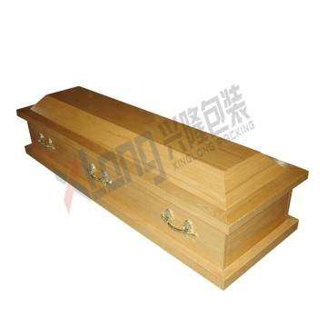 Satin intérieur placage de chêne sofa cercueil
