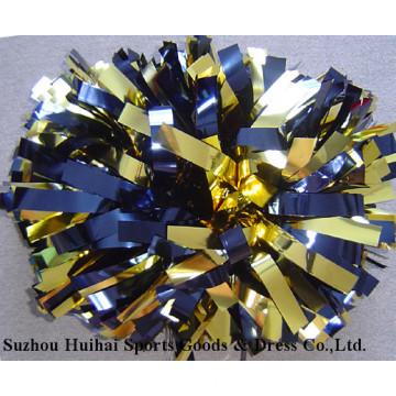 Metallic Gold Navy POM Poms
