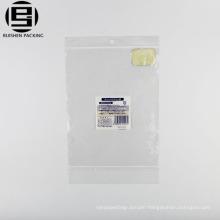Biodegradable plastic self-styled lock zipper bag for packaging