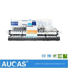 "Systimax cat5e 24 port 1U 19 ""toolless patch panel / AMP Dual IDC RJ45 LSA krone Patchfeld mit Kabelführung"