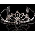Mode verre Pierre Bridal Crown ornements de cheveux de mariage