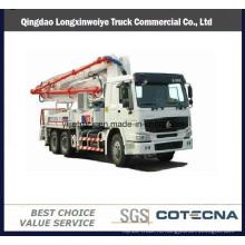 2016 новая компания sinotruk HOWO перевозит на 42м бетононасос грузовик 6х4