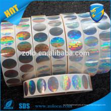 Impressão de segurança anti-roubo carimbo de segurança de holograma personalizado, selo de segurança de holograma seguro