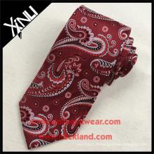 Günstige 100% Seide Jacquard Woven Red Paisley Hochzeit Mens Großhandel Krawatten