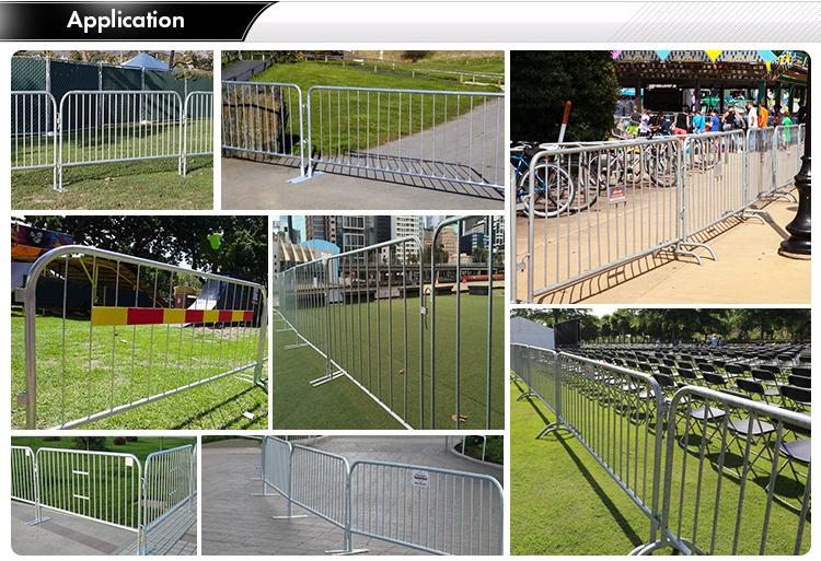 Heavy duty crowd control steel barricades