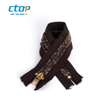 High quality NO.5 black tape long chain rainbow teeth zipper