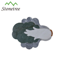 Kohl-geformtes natürliches Marmorkäse-Brett