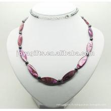 Fashion Hematite Purple Pearl Shell Wrap