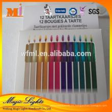 Vela de llama de color mágico vendible para decoración de pastel de cumpleaños