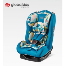 Baby car seat with orange red cover
