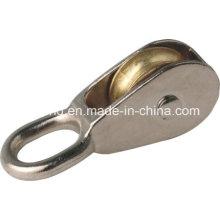 Poulies en alliage de zinc Poulies à oeil fixe et pivotante à simple roue