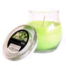 Bougies parfumées en pot en verre écologique