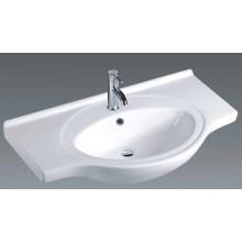 Lavabo de cerámica del gabinete de la cuenca de la vanidad del cuarto de baño (A80)