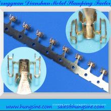 Peças personalizadas de estampagem de peças de aço latão elétrica / automotiva Dongguan