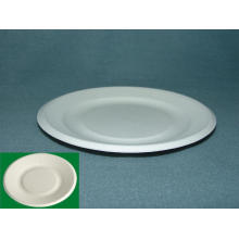 """7"""" Bagasse Plate (Sugarcane Plate) Food Placa Chapa Paper Pulp Biodegradable Plate, Party Cake Dessert Plate"""