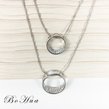 New design fashion pendant crystal necklace women for lady shirt