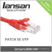 RJ45 UTP CAT 5E Câble de raccordement 1M, plaqué or, 100Mhz, PVC / LSOH, ETL / UL / ROHS, LANSAN