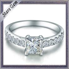 Square Princess Cubic Zirconia Sterling Silver Fashion Jewelry