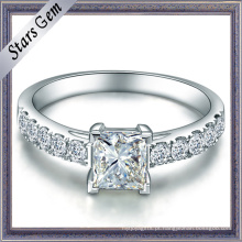 Quadrado Princesa Cubic Zirconia Sterling Silver Fashion Jewelry