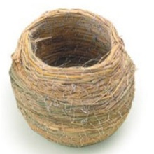 Percell Pot-geformtes kleines Straw Bird Nest