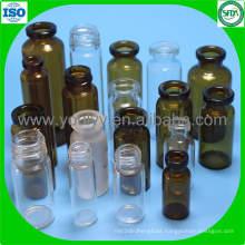 Transparente y ámbar de todos los tamaños de frasco de vidrio para inyección