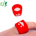 Freak Embossed Logo Smile Silicone Rouge Anneaux