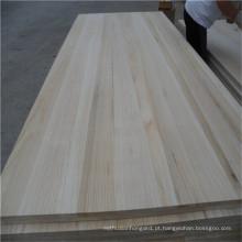 Fsc Paulownia placa de madeira para porta de móveis