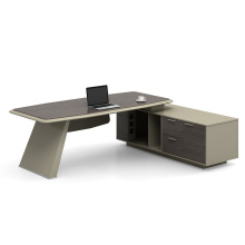 Modern Luxury CEO Manager L Shape MDF Wooden Executive Desk