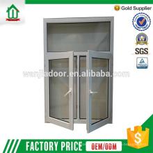 2.5 épaisseur du mur fenêtre à battants en PVC double vitrage