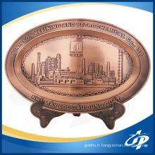 Plaques de gaufrage décoratives en laiton de logo en métal faites sur commande