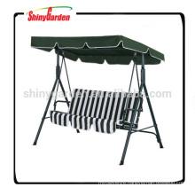 Garden 3 Seater Hammock Cushioned Swing Bench Chair