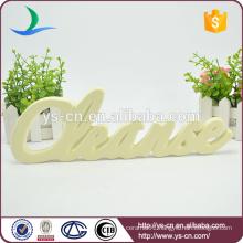 letter shape ceramic sign board for decoration