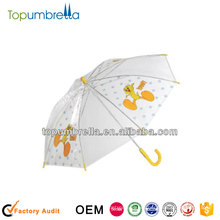 19 inches 8 ribs promotional yellow duck umbrella for kids