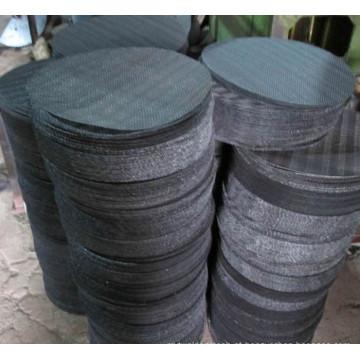 Disco de aço inoxidável do filtro de rede de arame do uso 304 da indústria com furo quadrado