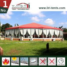 Tente hexagonale faite sur commande d'auvent de belvédère de cirque de cirque pour la noce en plein air