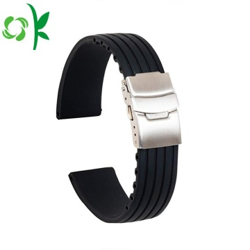Simple Silicone Watch Strap Penggantian Waterproof Stripe