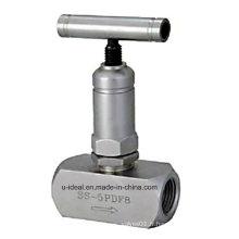 Soupape à soupape de contrôle de valve d'aiguille de filetage interne