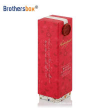 Brothersbox navy custom gift boxes bottles red wine bespoke magnetic gift box with ribbon