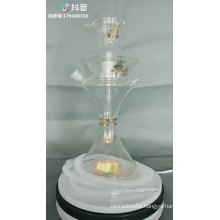 15 inches Premium Latest Original Al Fakher Glass Hookah in Wooden Case With Led Base and Remote
