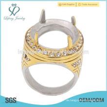 Schöne und modische mans indonesien Edelstahl Ring, türkische Stein Ring Designs für Männer