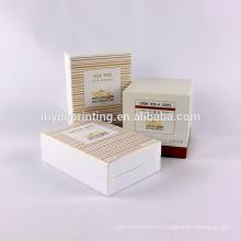 Emballage coemstic imprimé par coutume de luxe avec des insertions d'EVA