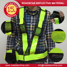 hook and loop high visibility reflective safety vest