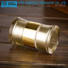 Design surpreendente de 50g de YJ-XD50 rodada única cosméticos creme embalagem 50g boca dupla acrílico jar