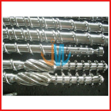 Bimetallischer Einschneckenzylinder für Extruder / Wolframkarbid-Schneckenzylinder